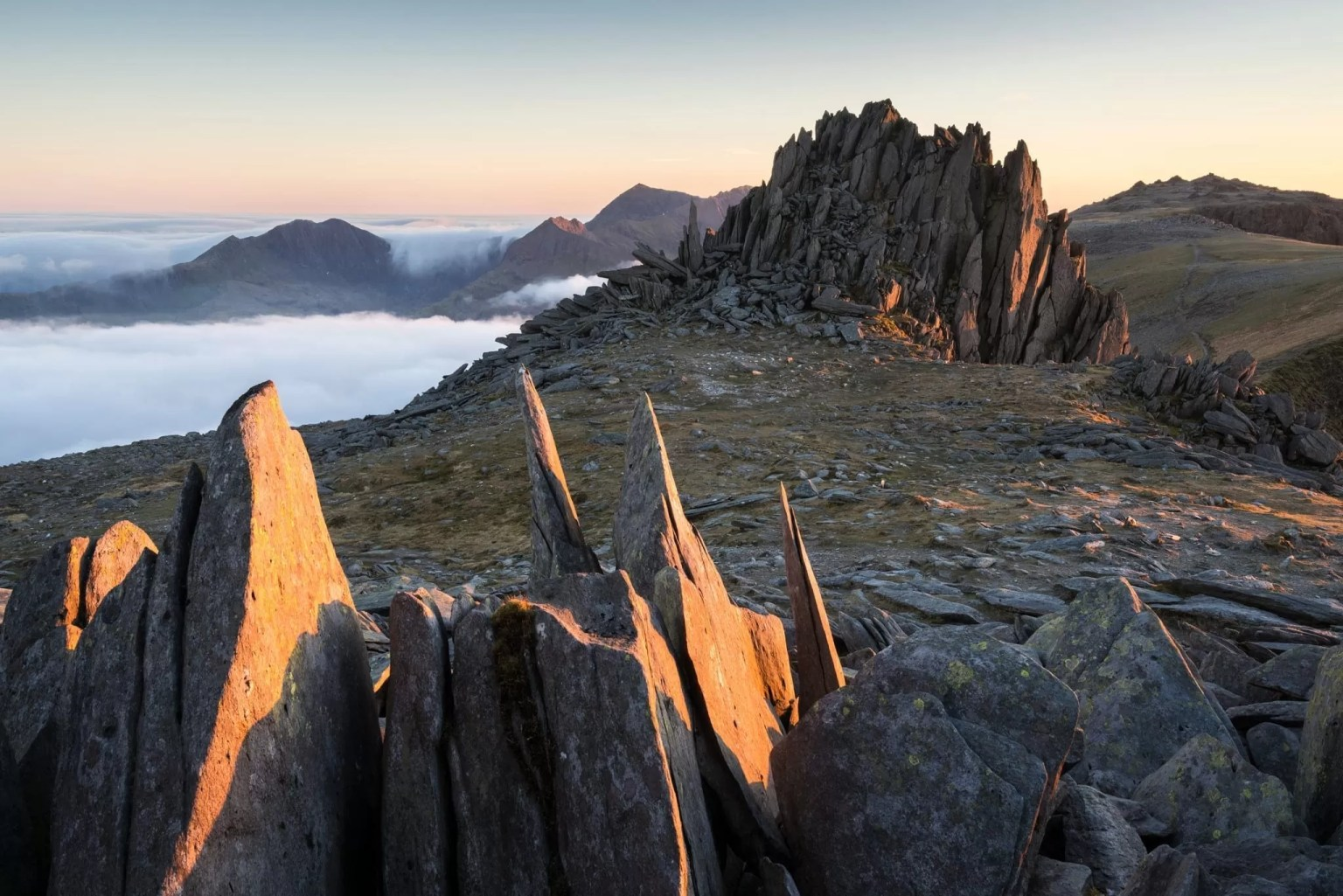 Castell Y Gwynt Sunset Inversion - Snowdonia Photography