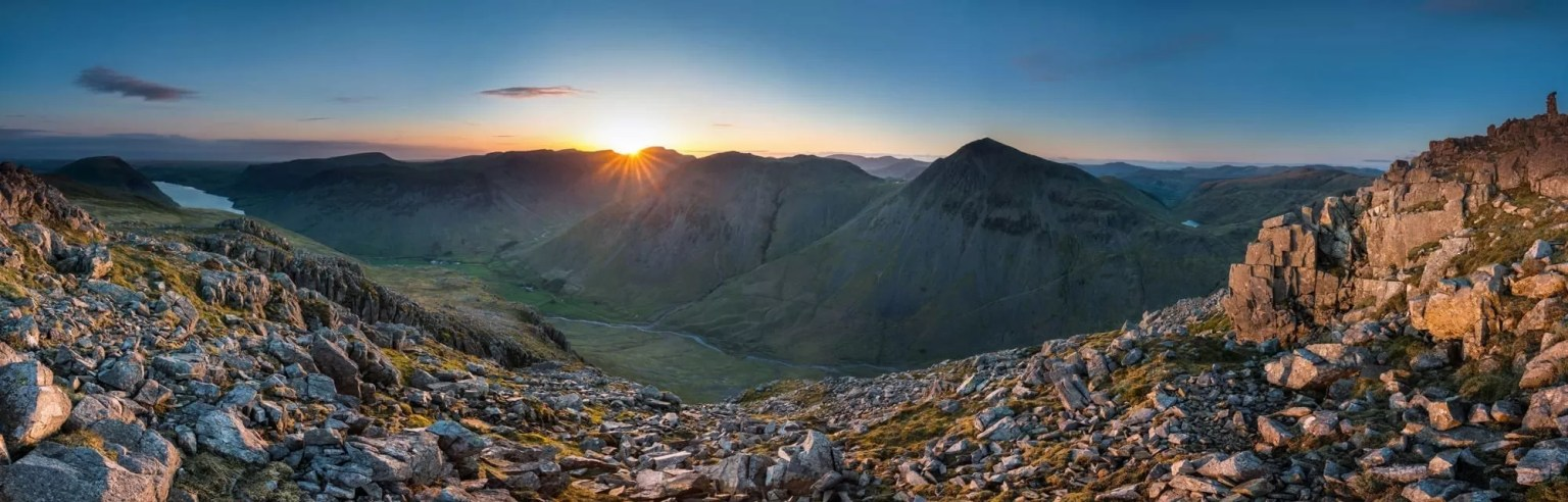 Lingmell Sunset over Wasdale - Lake District Photography