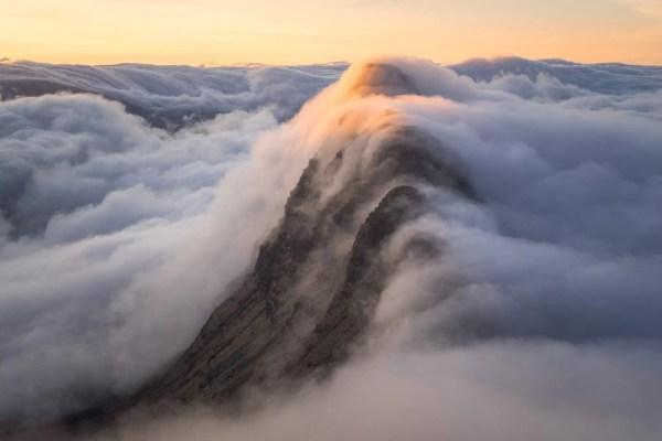 Wild Camping Scotland above Clouds