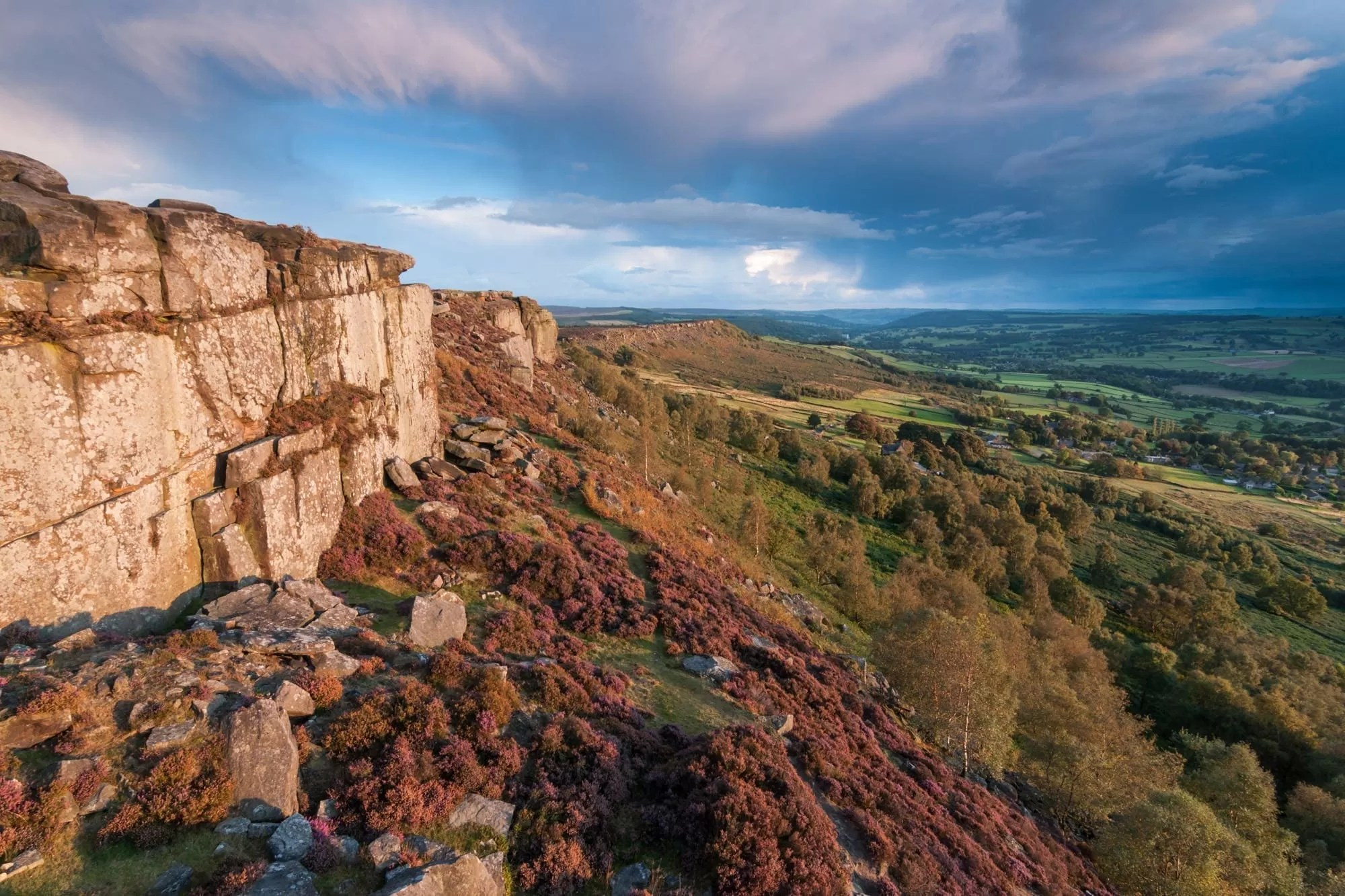 Curbar Edge Stormy Skies - Peak District Through The Lens Photography Workshop