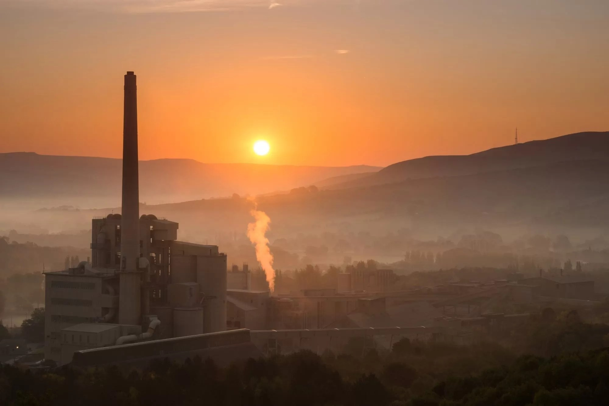 Hope Cement Works from Pin Dale - Peak District Photography