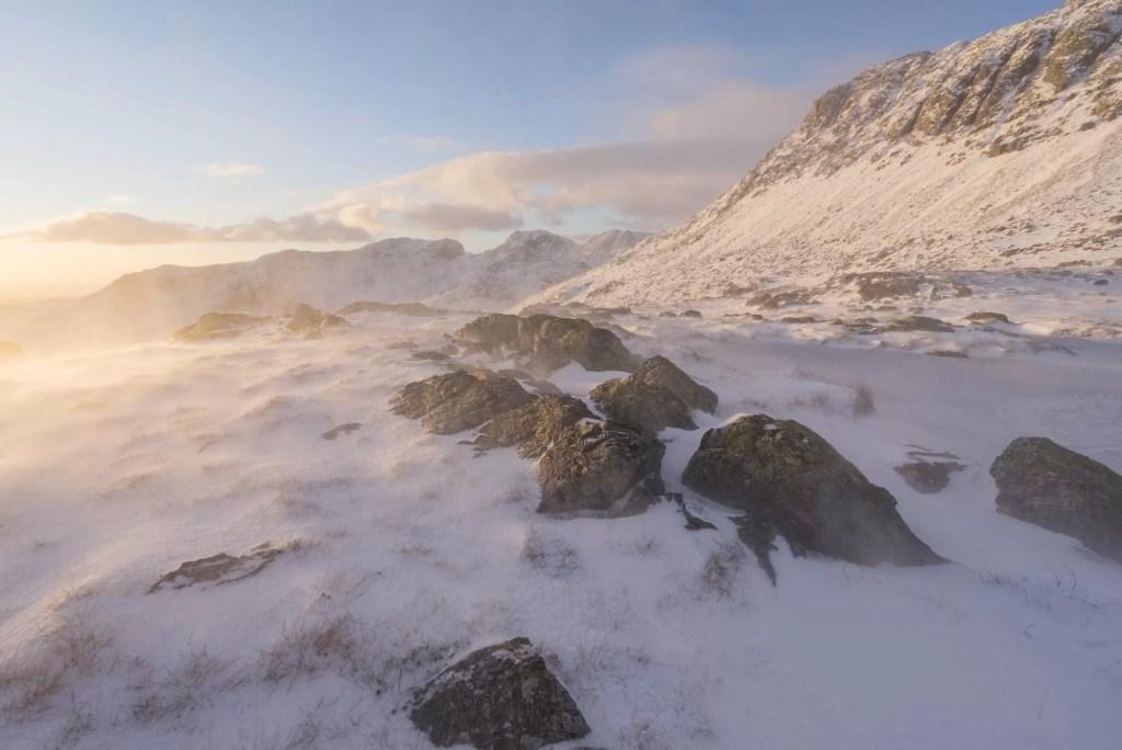 Three Tarns Winter Sunset - Lake District Photography Workshops