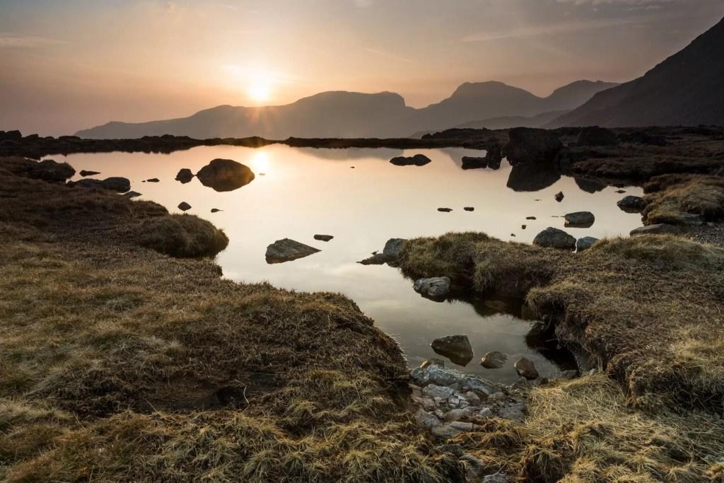 Three Tarns Sunset - Lake District Photography Workshops