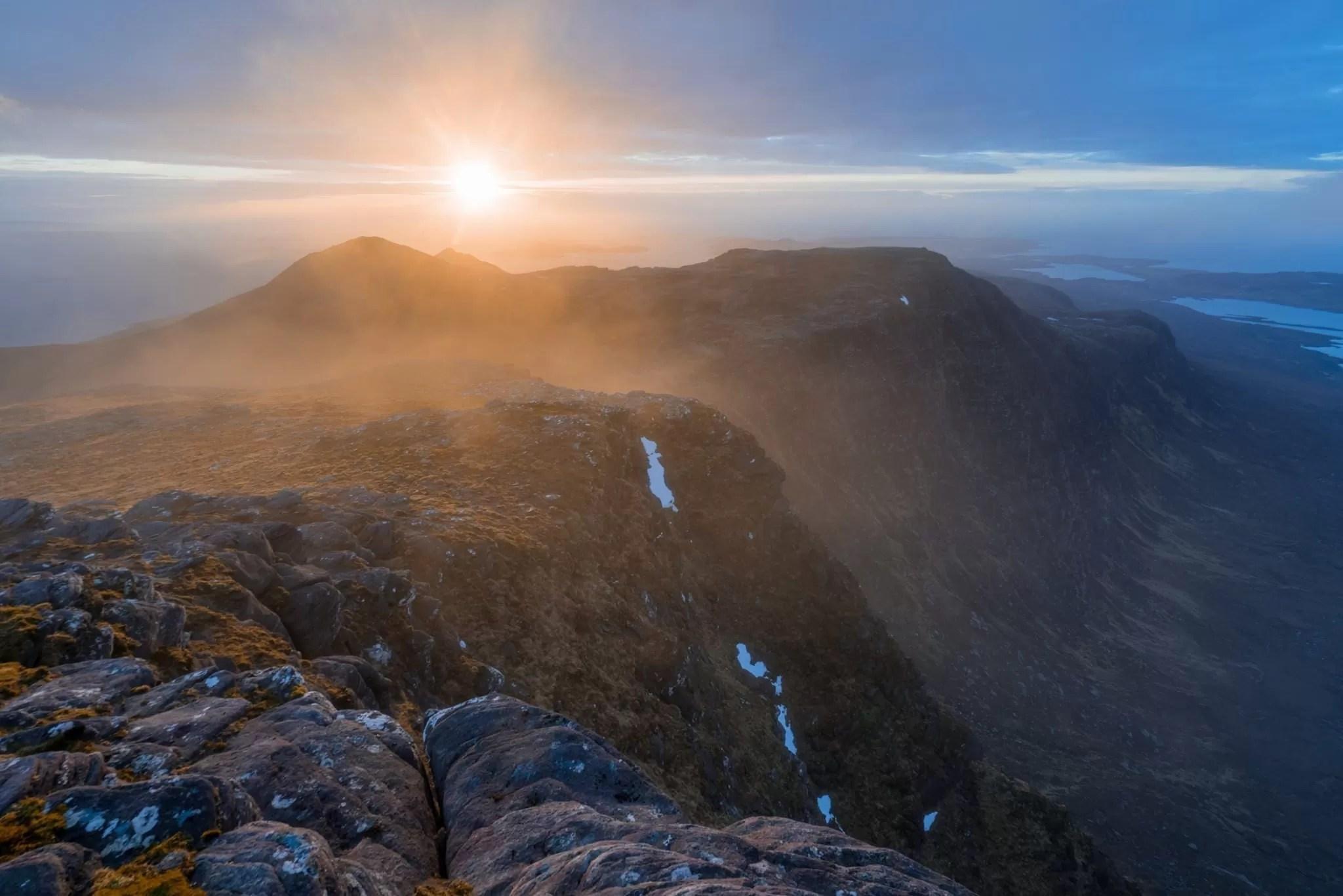Fiddler Summit Sunset View - Scotland Wild Camping Photography Workshop