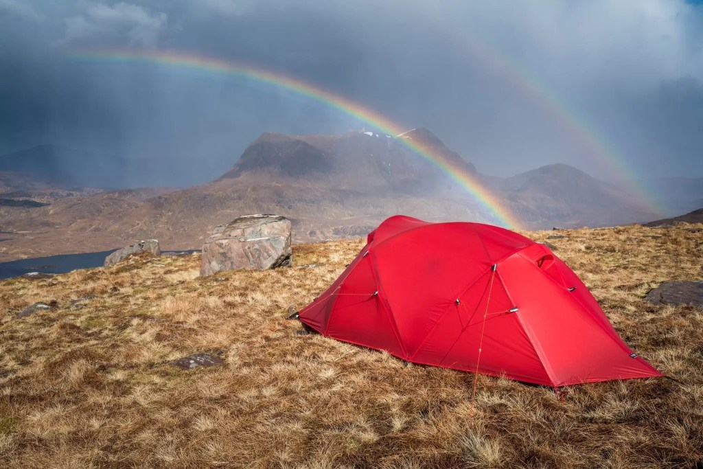 Stac Polliadh Wild Camping Rainbow - Wild Camping Photography Workshops