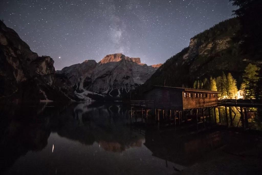 Lago Di Brais Milky Way - Italian Dolomites Photography