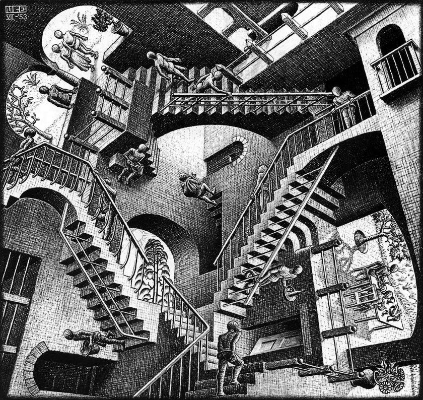 Relativity (M.C. Escher, 1953)