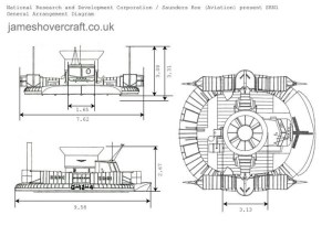 SRN1 General Arrangement Diagram:: jameshovercraftcouk