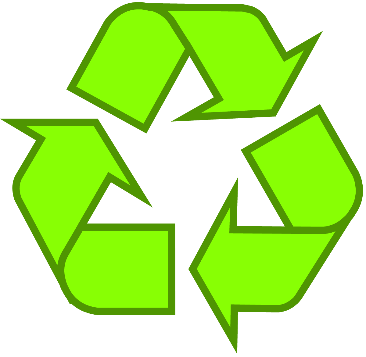 Recycling Symbol Icon Outline Solid Light Green Nicotine