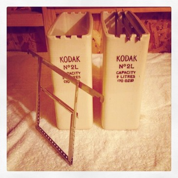 Kodak 5×4 Dip & Dunk Tanks and Hangers
