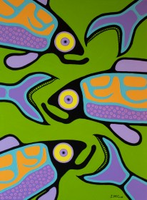 """""""Coming and Going"""" Acrylic on canvas 40"""" x 30"""" stretched"""