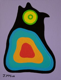 """""""Owl"""" Acrylic on canvas 14"""" x 11"""" stretched"""