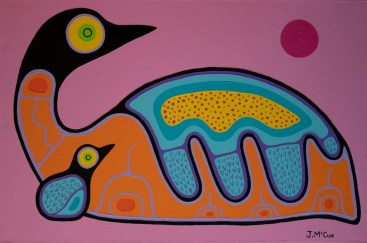 """""""Parent and Child"""" Acrylic on canvas 24"""" x 36"""" stretched"""