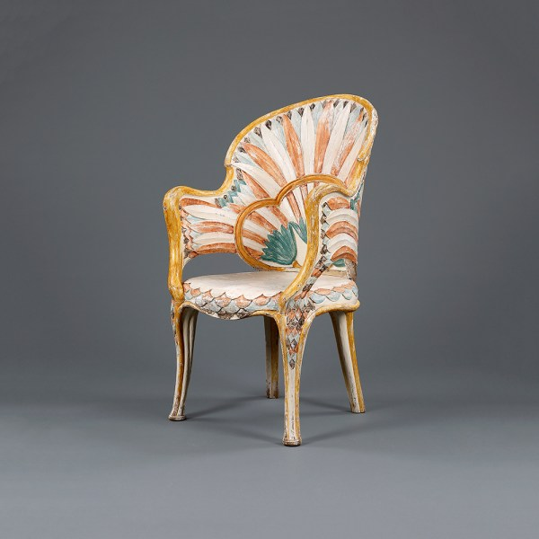 Art Deco Egyptian Revival Chair