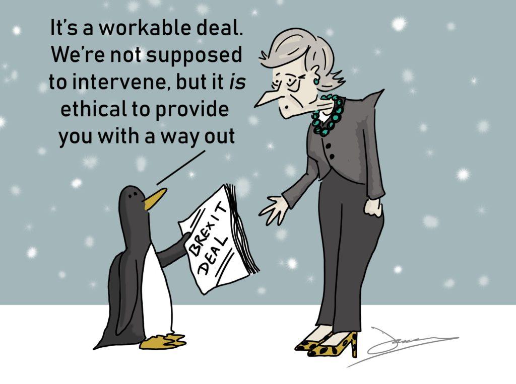 Image result for brexit cartoons penguin