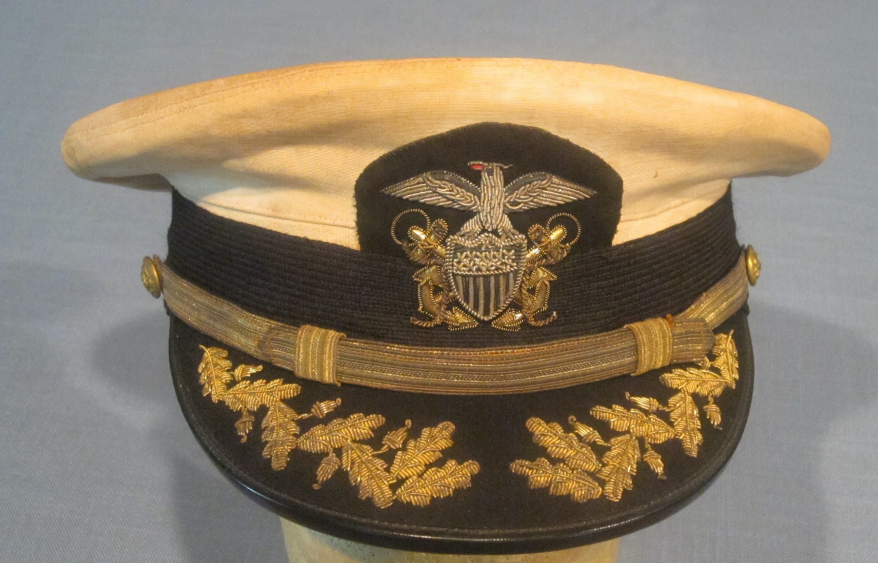 Commander Grade USNavy Officers Hat  J Mountain Antiques