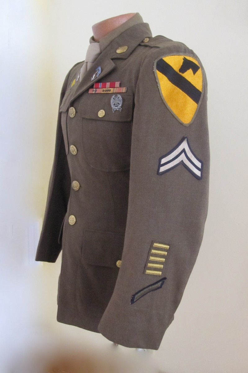 7th Cavalry1st Cavalry Division Service Dress Coat  J