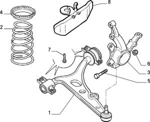 7707587 genuine OE Fiat Alfa Romeo lower balljoint pinch