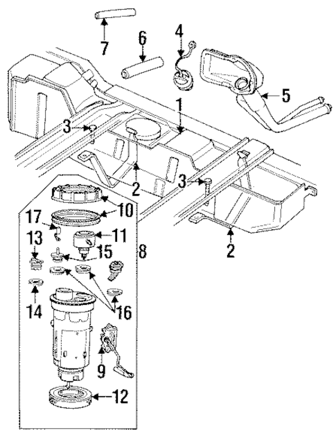 fuel filter location 2004 gmc sierra