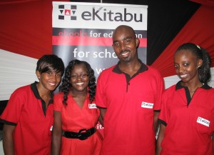eKitabu exhibitor's Susan W. Kariuki, Mary Williams, Michael Ng'eno and Caroline Wanjiru