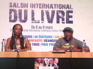 Angela Makholwa and Kabomo Vilakazi during a panel discussion