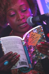 A panelist reads from the book. Photo/Fungai Machirori