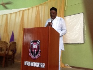 Convention Keynote Speaker Prof. J. O. J. Nwachukwu-Agbada of the Abia State University in eastern Nigeria speaks