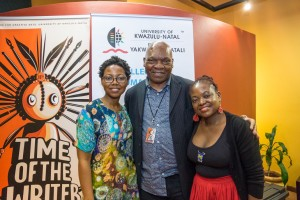 Noviolet Bulawayo, Mandla Langa and Sue Nyathi Photo/Gerald Mthembu