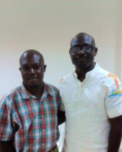 Richard Ali with Michael Afenfia
