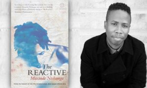 Masande Ntshanga and his book. Photo/Bookslive.co.za