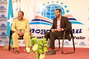 Founder of New Horizon & Mogadishu International Book Fair in Conversation with President Hassan Sheikh Mohamud.