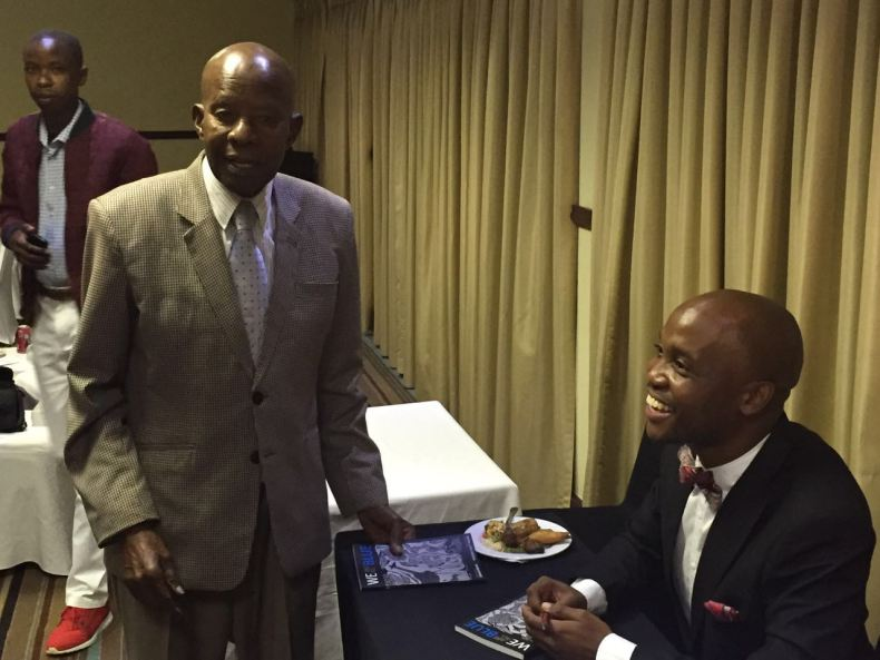 Sir Ketumile Masire with Donald Molosi