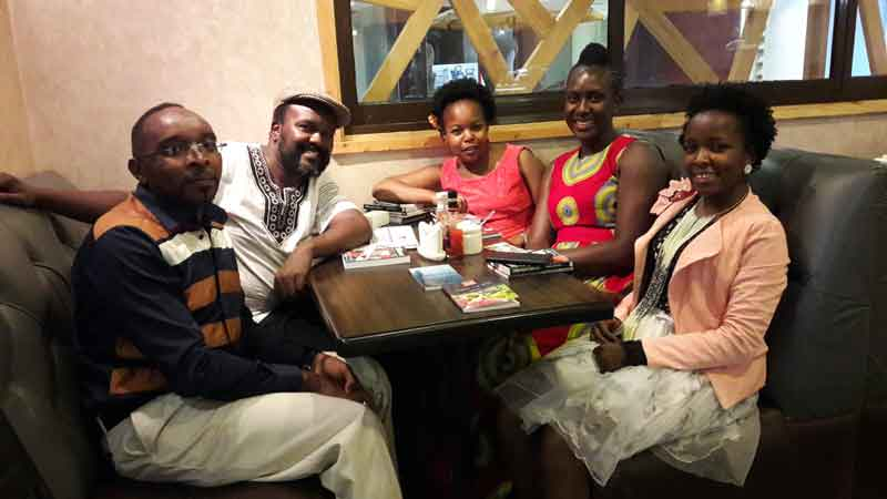 Ng'ang'a Mbugua, James Murua with Lutivini, Pauline and Mercy