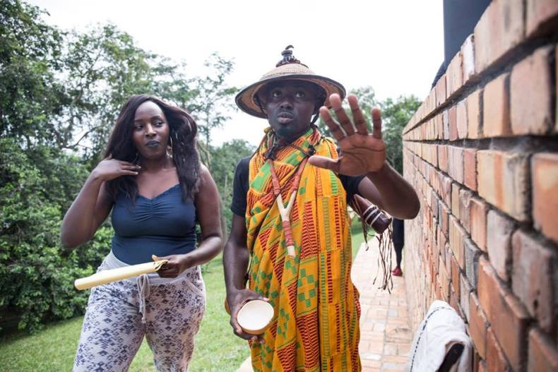 Lindah Nabasa and Oswald the Entertainer at Babishai