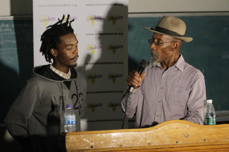 Immortal X and Linton Kwesi Johnson. Photo/Lena Nian Photography