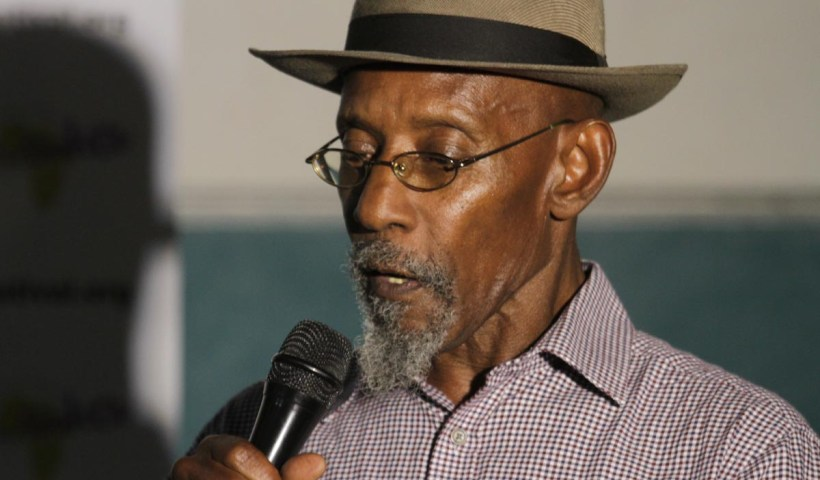 Linton Kwesi Johnson at Gambia College. Photo/Lena Nian Photography