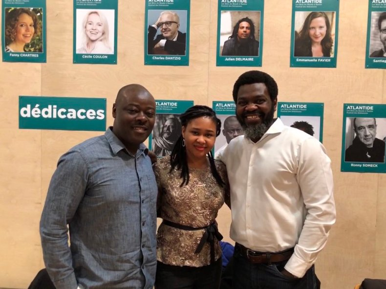Helon Habila, Chinelo Okparanta, and Leye Adenle.