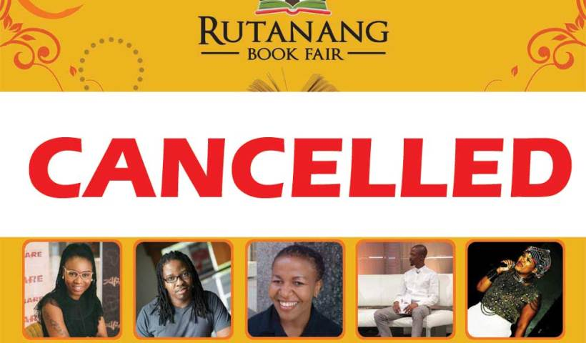 Rutanang Book Fair 2018 cancellation