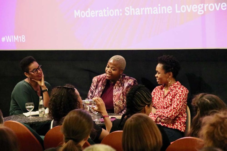 Sharmaine Lovegrove, Zukiswa Wanner, and Bibi Bakare-Yusuf