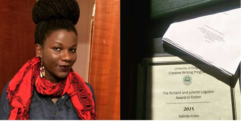 Ndinda Kioko wins Richard and Juliette Logsdon Fiction Scholarship.