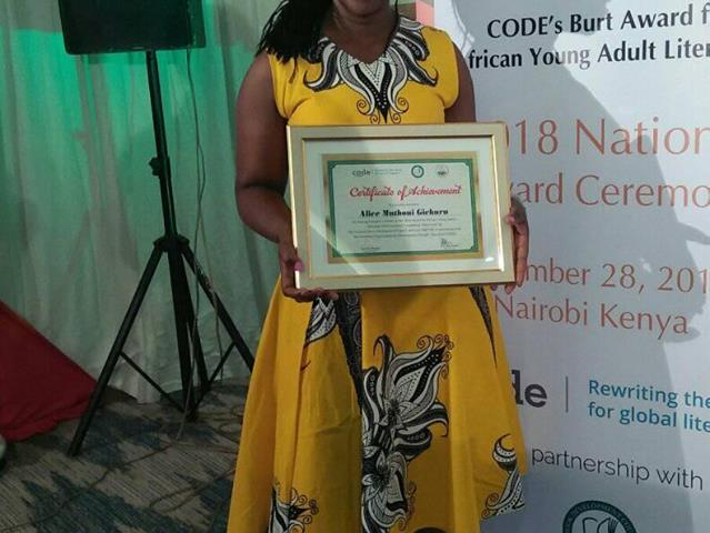 Muthoni wa Gichuru is CODE Burt Prize for African Young Adult Literature Kenya 2018 winner.