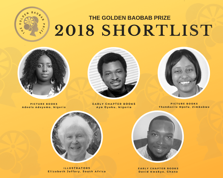Golden Baobab Prize 2018 shortlist .
