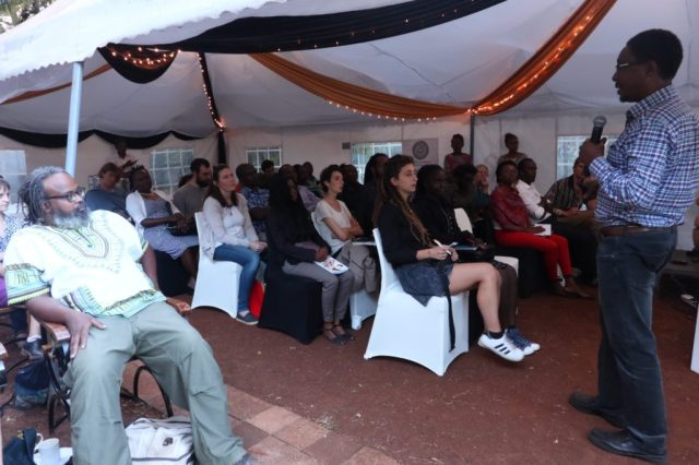 Audience at Chege Githiora book launch in Nairobi