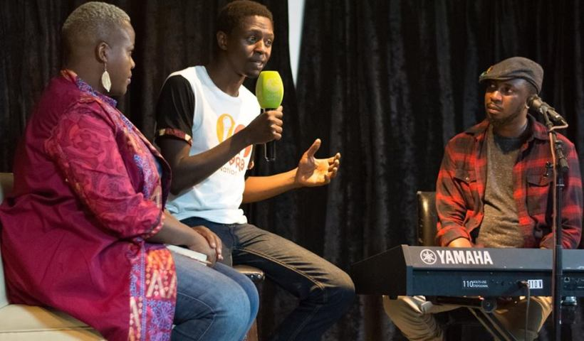 Zukiswa Wanner Kagayi Ngobi and Chris Adwar at Artistic Encounters