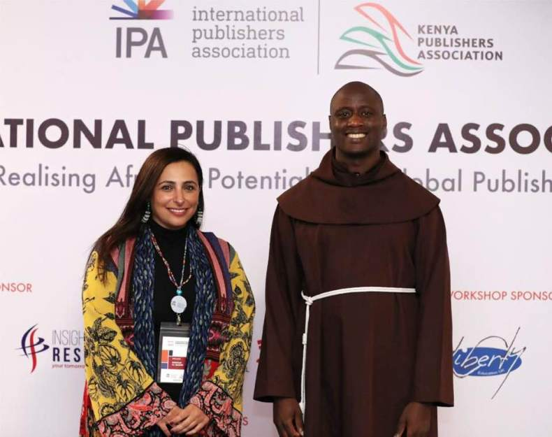 IPA Vice President Bodour Al Qasimi with World teacher of the year 2019 Peter Tabichi
