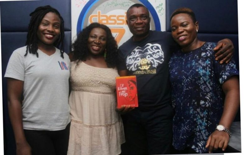 Bisi Adjapon with the Classic FM #BookOnReview team.