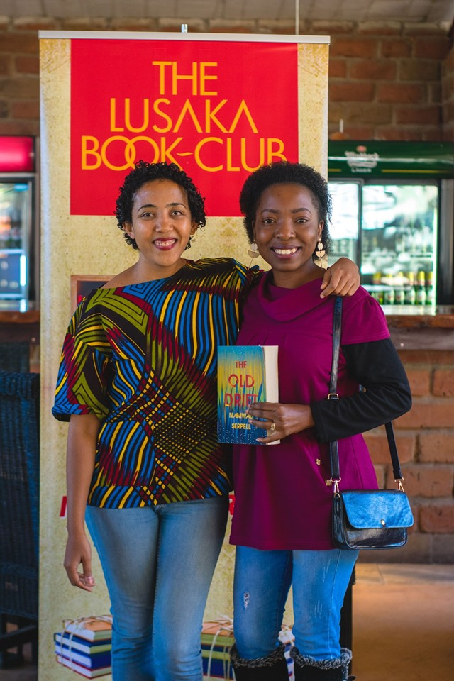 Namwali Serpell with a Lusaka Book Club member