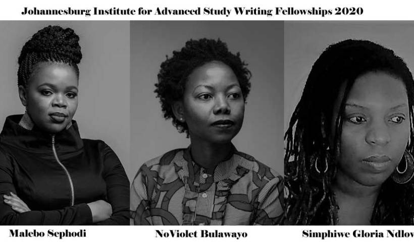 NoViolet Bulawayo, Simphiwe Gloria Ndlovu, Malebo Sephodi for Johannesburg Institute Fellowships.