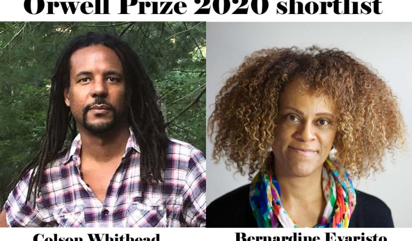 Colson Whithead, Bernardine Evaristo on UK's Orwell Prize 2020 shortlist.