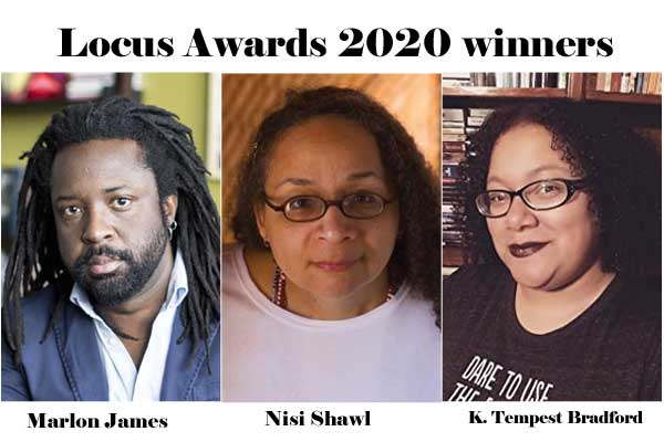 Nisi Shawl, K. Tempest Bradford, and Marlon James are Locus Awards 2020 winners.